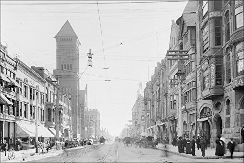 24x36 Poster; Broadway Looking South From Second Street, Los Angeles, - Angeles South Street Los