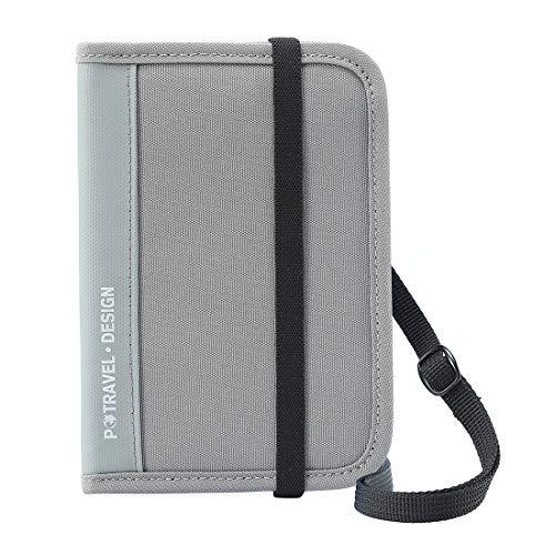 - Passport Wallet Holder for Men&Women,RFID Blocking Travel Waterproof Zipper Credit Card Money Storage Bag Multifunctional Family Cellphone Boarding Passes Organizer with Crossbody Belt (Gray)