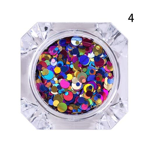 Nail Art Accessories - 1 Box Round Nail Sequins Mixed Size Shape Nail Sequin Flakes Multicolor Paillette Manicure Nail Decoration Nail Art Supplies Nail Jewelry - pattern4