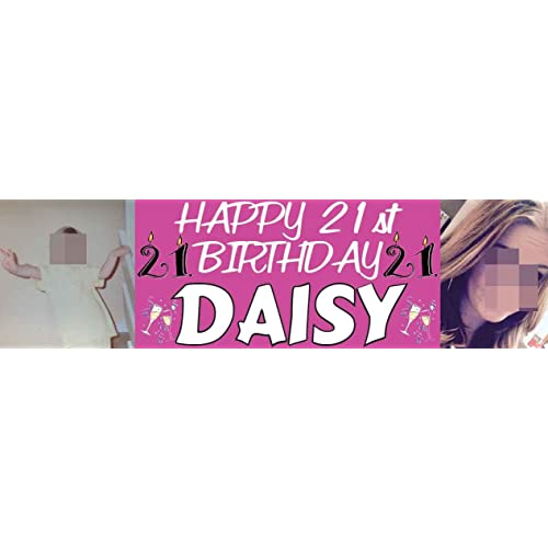 21st Personalised Birthday Banners Amazoncouk