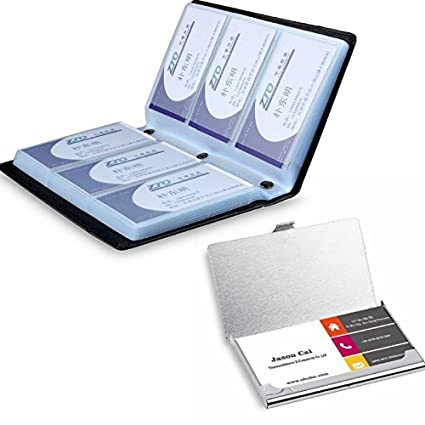 Amazon chesey office business card holder book name card chesey office business card holder book name card organizer hold 180 cards with stainless steel colourmoves
