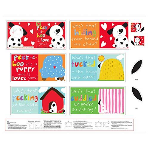 - Studio E Fabrics Huggable And Lovable 6 36'' Peek-A-Boo Book Panel Multi
