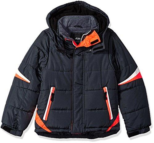 London Fog Boys' Big Active Puffer Jacket Winter Coat, Super Grey, 14/16