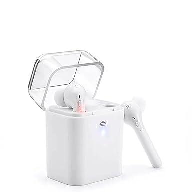 fun7 inalámbrico auriculares Bluetooth auriculares con micrófono portátil deportes auriculares blanco para iOS/teléfonos Android