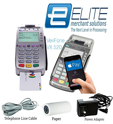 Verifone Terminal Cable - Verifone Vx520 EMV Credit Card Machine Terminal (Merchant Account required) Includes Paper, Telephone Line Cable, Power Adapter & Warranty! Please call 1-866-822-2378 before you order