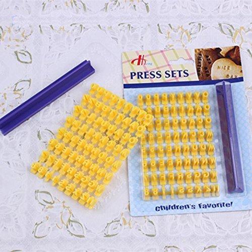 - Alphabet Letter Number Biscuit Cookie Cutter Press Stamp Embosser Cake Mould