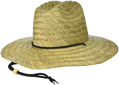 Brooklyn Surf Men's Straw Sun Classic Beach Hat Raffia Wide Brim, (Mens Straw Hat)
