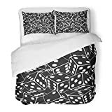 Emvency Bedding Duvet Cover Set Twin (1 Duvet Cover + 1 Pillowcase) Black Dice Pattern Casino White Abstract Addiction Bet Chance Composition Hotel Quality Wrinkle and Stain Resistant