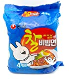 Nongshim Chal Bibim Myeon Korean Cold Noodles Spicy 4ea Instant Noodle