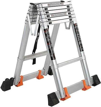 YTC A-Aluminio Marco De La Escalera con La Barra Estabilizadora De Usos Múltiples Escaleras Plegables Telescópicas For Interiores O Exteriores, 150 Kg De Carga (Size : 3.8m/12.5Ft): Amazon.es: Hogar