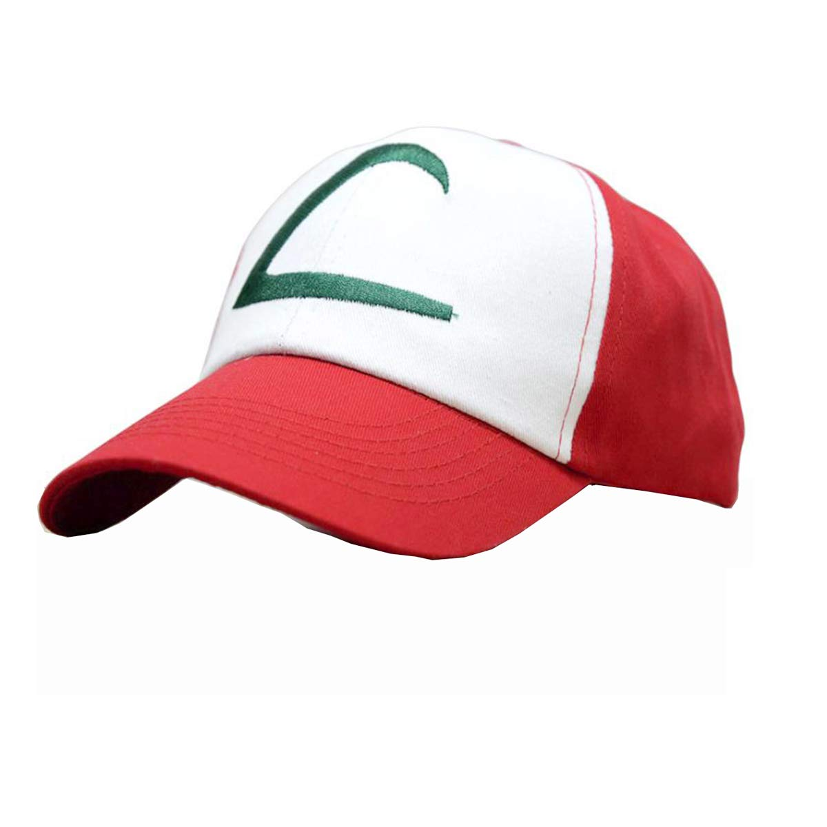 Adult /& Youth Sizes Ash Ketchum Cosplay Hat Mesh Cap with Plastic Snap Closure