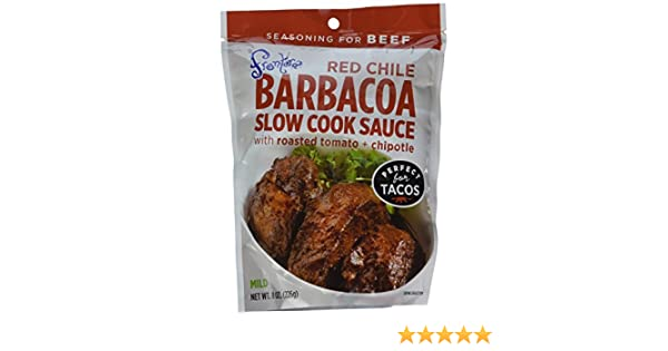 Amazon.com : Frontera Red Chile Barbacoa Slow Cook Sauce with Roasted Tomato + Chipotle 8 oz (Pack of 3) : Grocery & Gourmet Food