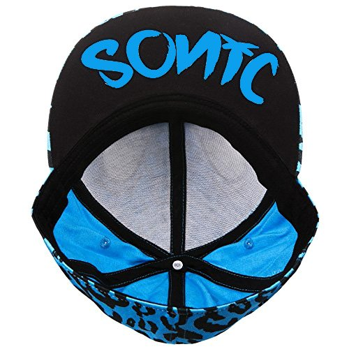 Sonic The Hedgehog Leopard Sonic Face With Ears Snapback Baseball Cap -  OFFICIAL  Amazon.co.uk  Clothing 4dff36b1c478