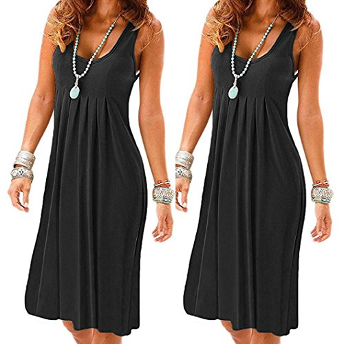 42 Noir Noir Robe Moulante Noir KaloryWee Femme sans Manche 8xF0CWYwq