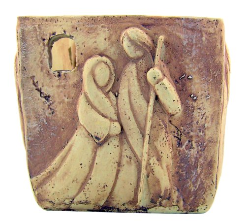 Holy Family Nativity of Christ Stone Votive Candle Holder Home Chapel Religious Decoration - Nativity Christ Candle
