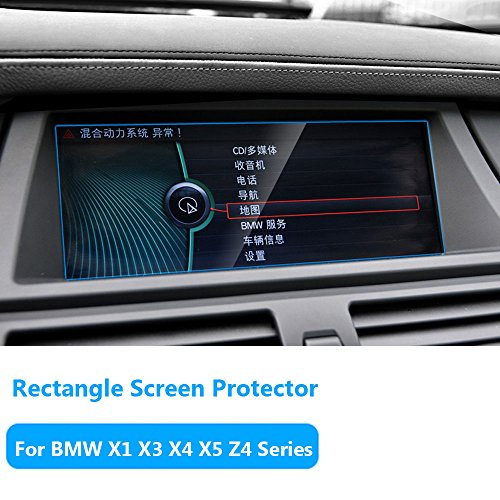 """For BMW X1 X3 X4 X5 X6 Z4 Series Navigation Display Screen Protector Foil,TTCR-II Anti-Explosion Touch Screen Protector Films[0.3mm,9H],Tempered Glass Console GPS Screen Protector[8.8"""" Rectangle]"""