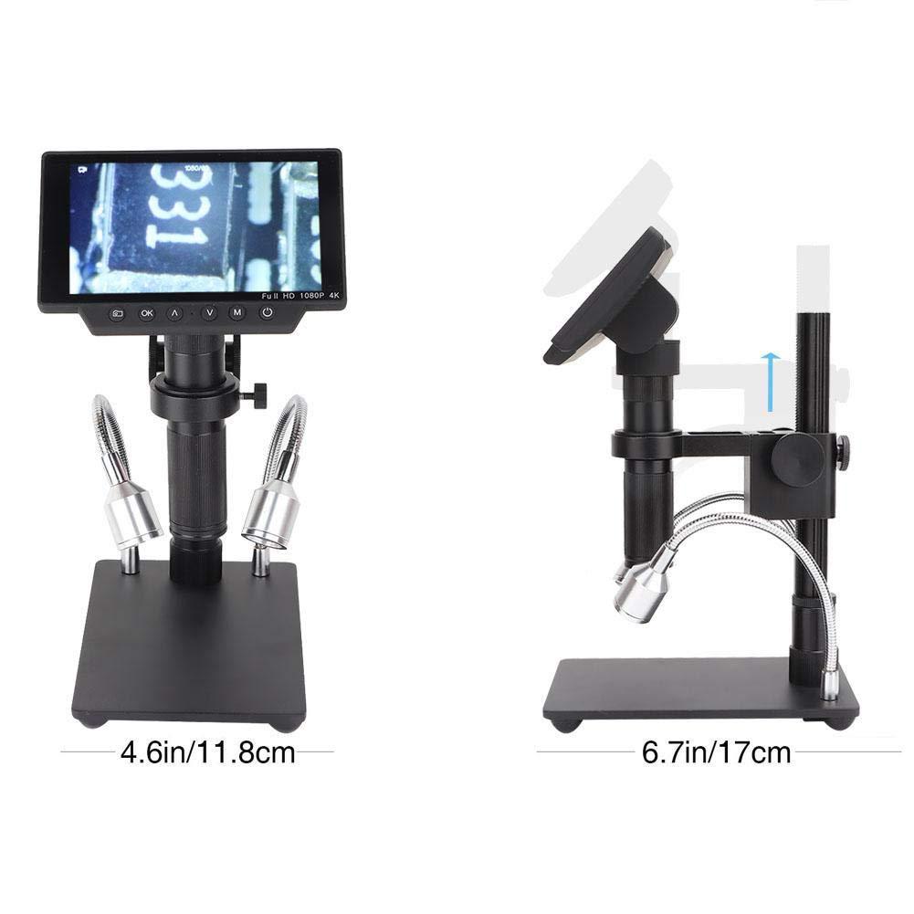 Mikroskopkamera HY-1070 1080P Digitales Profi-Mikroskop mit einstellbarer 5-Anzeige und USB//HDMI//AV-Ausgang EU