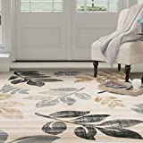 Cheap Lavish Home Opus Falling Leaves Area Rug, 3'3″ x 5′, Cream