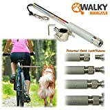 Walky Dog Plus Hands Free Dog Bicycle Exerciser Leash 2017 Newest Model with 550-lbs pull strength Paracord Leash Military Grade