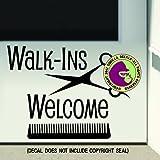 Amazon.com: Wall4Stickers- Vinilo para peluquería, salón ...