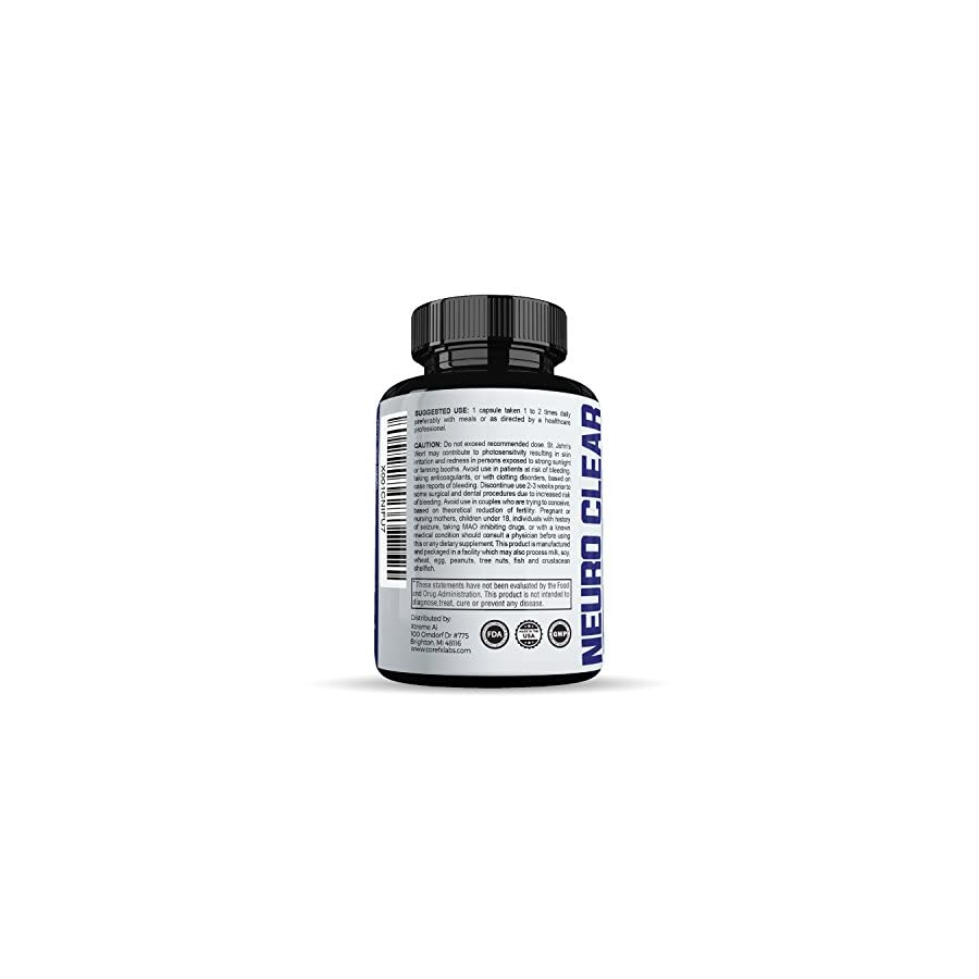 Brain Function Supplement by CoreFX Labs Brain booster for Memory, Clarity and Focus Mental Focus Nootropic Brain Supplement with Ginko Biloba, St Johns Wort, Bacopa Monnieri & More
