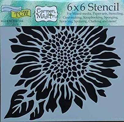 Art Journals Home Decor TCW Crafter/'s Workshop Art Is Script Stencil 6 x 6 for Mixed Media