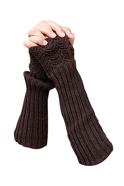 metà fuori prima qualità in vendita NOVAWO Donna Inverno Guanti senza dita maglia lunghi Manicotti