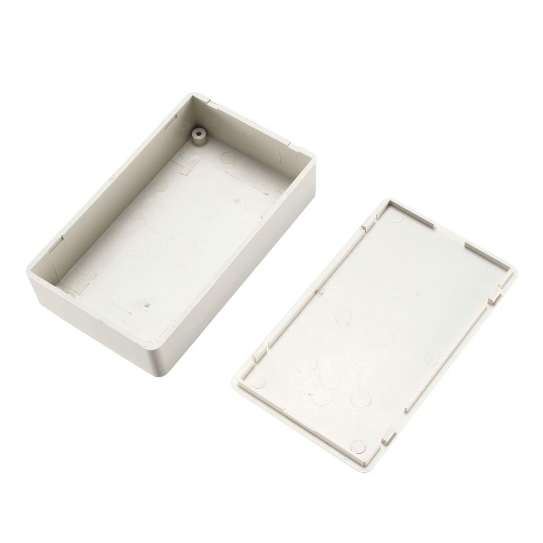sourcing map DIY Junktion Box 40 x 20 x 11mm Elektro Plastik geschlossen Deckel Schwarz Farbe