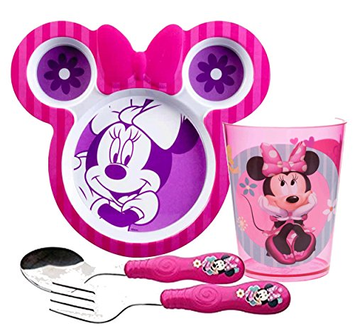 Disney Minnie Mouse Bow Tique Girls 3pc Dinnerware Set