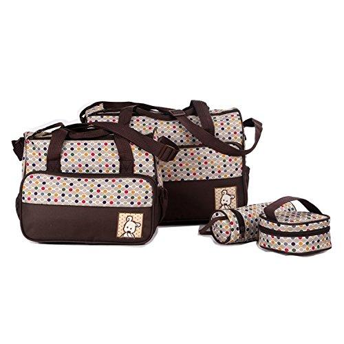 Baby Mummy Nappy Bigforest Travel Large Pad Bag Handbag Diaper Brown In 1 Changing 5pcs Set Multifunction Tote Capacity HwqB06vH