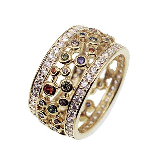 (Wedding Band Ring Yellow Gold Gemstone Amethyst Garnet Morganite 7 8 9)