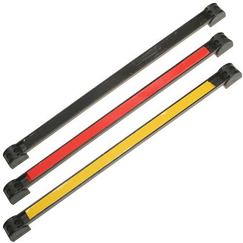4 x Extra starke MAGNETLEISTE Magnetschiene mit Halter 200 300 460 600 mm GELB