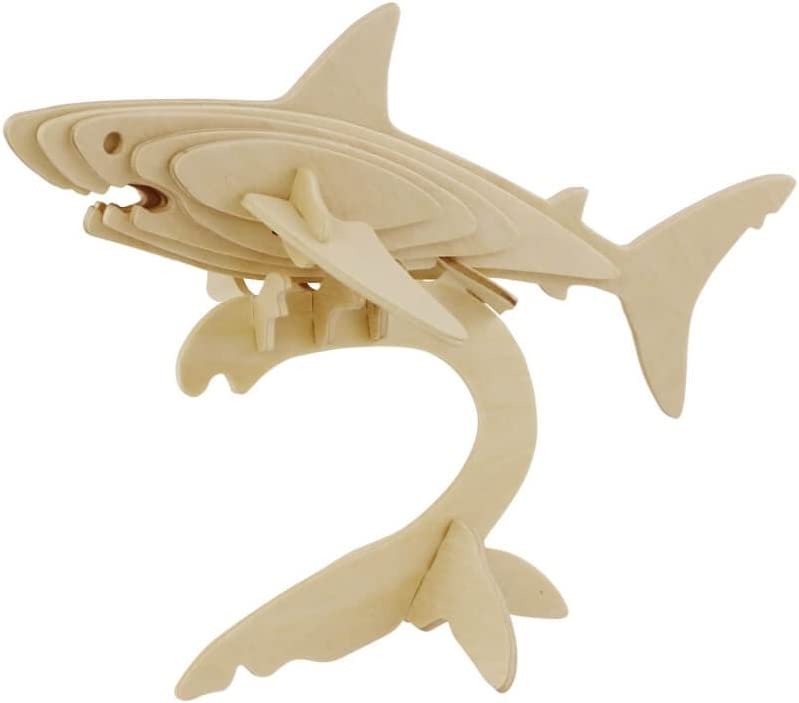 Hands Craft JP229 DIY 3D Wooden Puzzles (Shark)