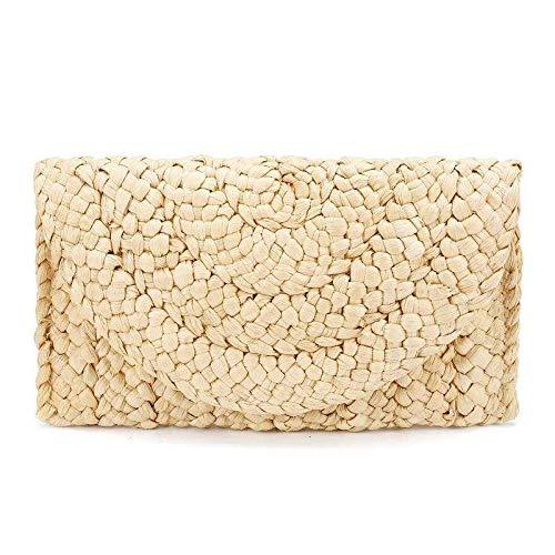 Women Straw Clutch Bag...