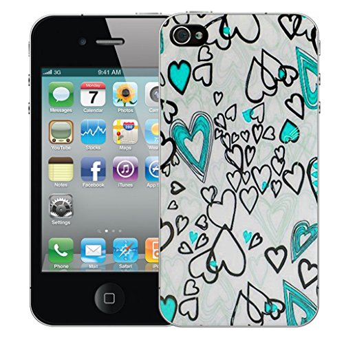 Mobile Case Mate iPhone 5 Silicone Coque couverture case cover Pare-chocs + STYLET - Blue Love pattern (SILICON)
