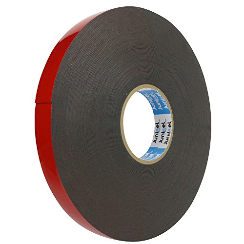 Junipel Automotive Grade Black Heavy Duty High Bound High Density Double Sided Tape 108 ft. Master Roll (1 in.)
