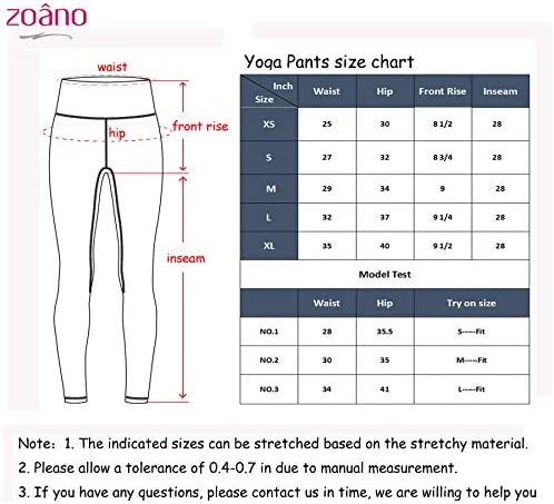 ZOANO High Waisted Printed Yoga Pants for Women Workout Leggings Running Pants 7