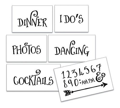 Wedding Stencil Words - Fun Stuff - Fancy Funky 6pc Jumbo Set - STCL1596_4 by StudioR12 by Studio R 12