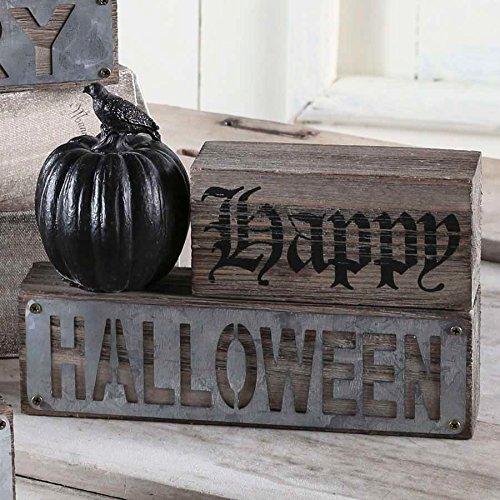 Happy Halloween Pumpkin and Crow - Happy Halloween Blocks