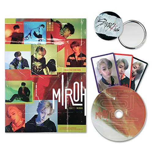STRAY KIDS Mini Album - CLE 1 : MIROH [ MIROH ver. ] CD + Photobook + 3 QR Photocards + FREE - One Cd Album