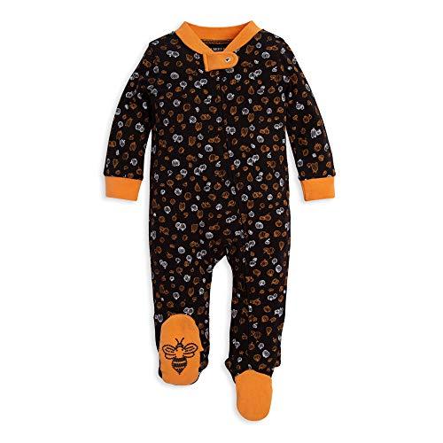 (Burt's Bees Baby Baby Sleep & Play, Organic Pajamas, NB-9M One-Piece Zip Up Footed PJ Jumpsuit, Mini Pumpkins, Newborn)
