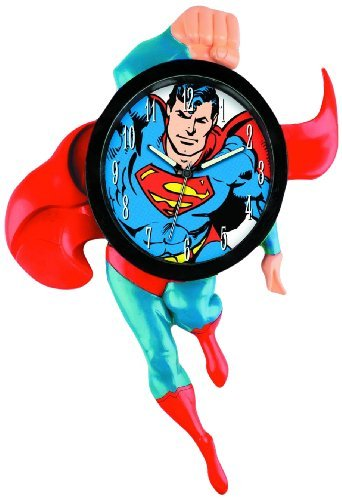 Justice League / Superman 3D motion wall clock