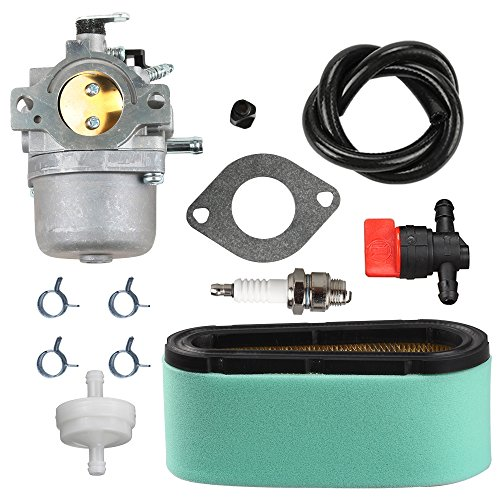 Panari 799728 Carburetor + 496894S Air Filter Tune Up Kit for Briggs and Stratton 498027 498231 499161 494502 494392 495706 498134 Craftsman Murray Lawnmower Lawn Mower