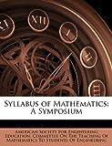 Syllabus of Mathematics, , 1146291426