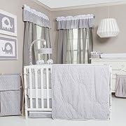 Trend Lab 3 Piece Crib Bedding Set, Gray and White Circles