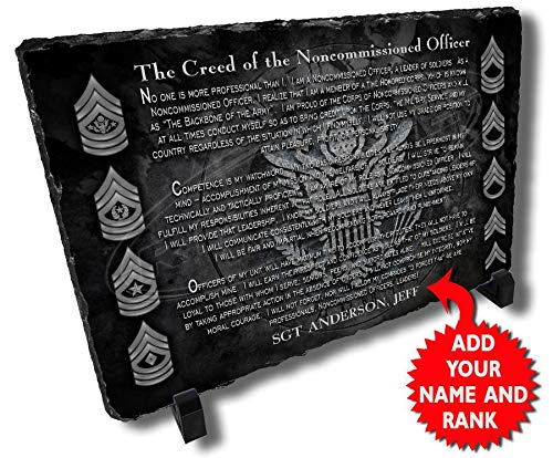 Army NCO Creed Personalized Decorative Stone Plaque