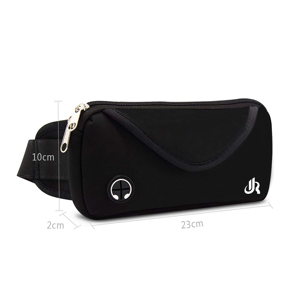 Y&R Direct Fanny Pack Running Belt Pouch Slim Soft Polyester Water Resistant Waist Bag for Man Women Walking Hiking Jogging Carrying iPhone Xs / 8 Plus Samsung S10 Plus/Note 8 Great Gifts