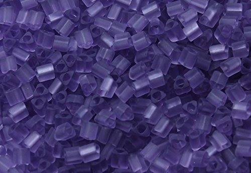 - 11/0 Triangle TOHO Japanese Glass Seed Beads #19F-Transparent-Frosted Sugar Plum 15g