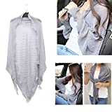 Women's Fashion Chiffon Summer Sun Protection Blouses Shawl Scarf Shrug Cover Ups Driving Sleeves Beach Sunscreen Cuff