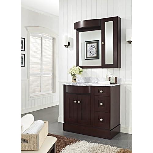 "Jade Bath JB-18421 36"" W x 22"" D Birch Wood-Veneer Vanity Set, Coffee new"